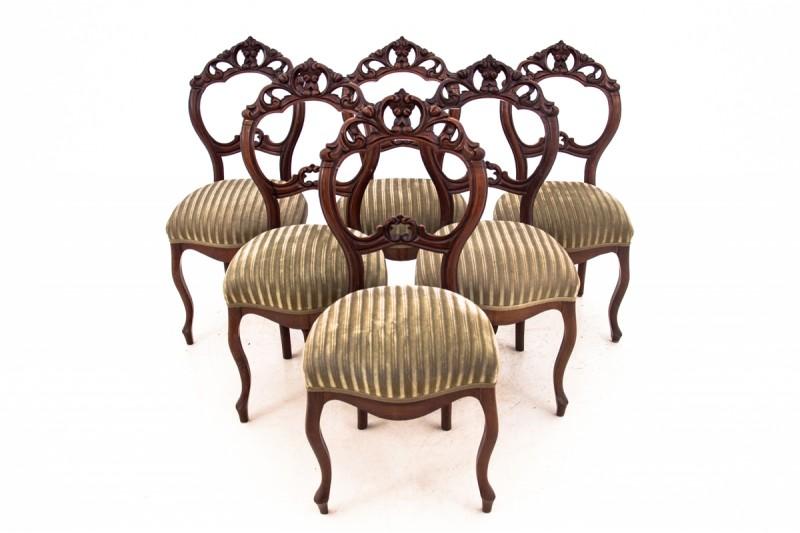 komplet antycznych krzeseł