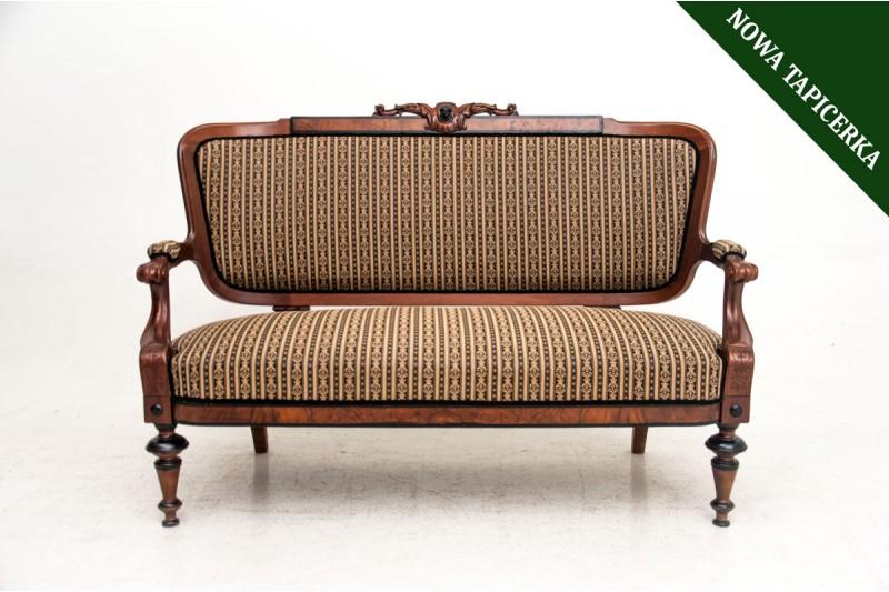 Sofa w stylu eklektycznym, koniec XIX w.