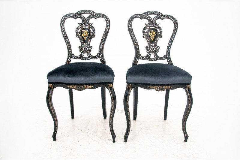 krzesła boulle francuskie