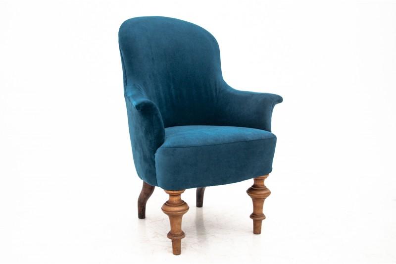 Fotel antyczny z około 1880 r. PO RENOWACJI.
