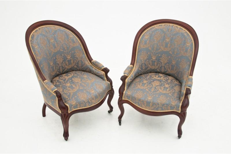 Fotele antyczne z ok. 1920 roku. PO RENOWACJI.