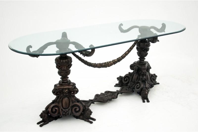 stół z brązu rzeźbiona noga