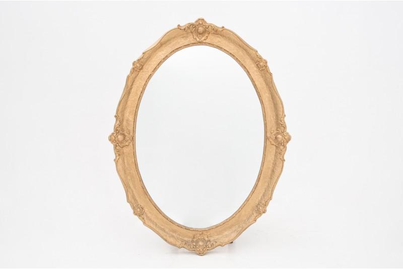lustro w złotej ramie