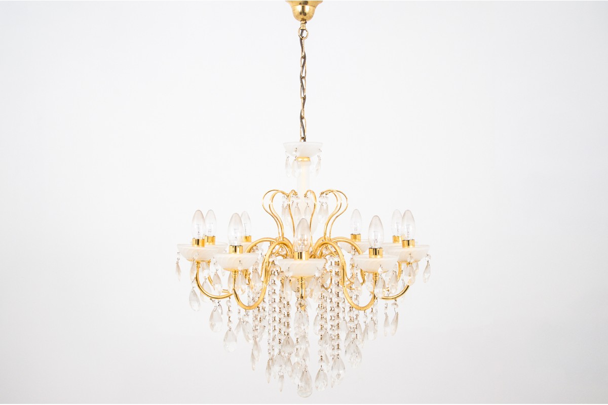 Crystal Chandelier Mid 20th Century