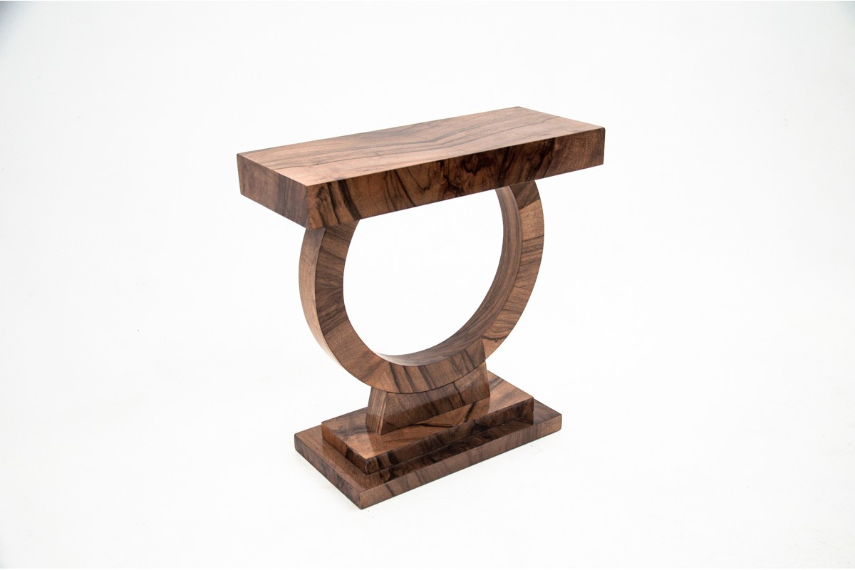 art deco stolik na okrągłej nodze