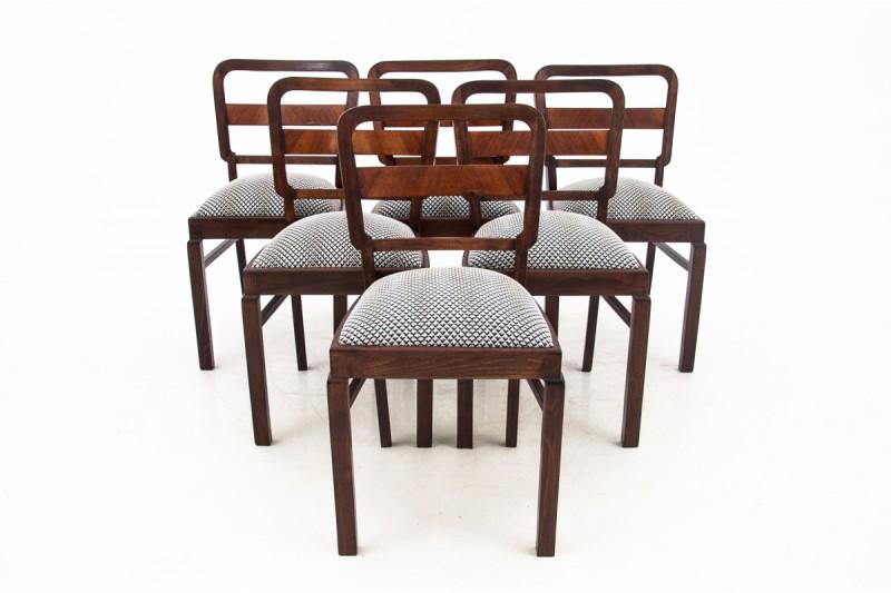 zabytkowe krzesła art deco