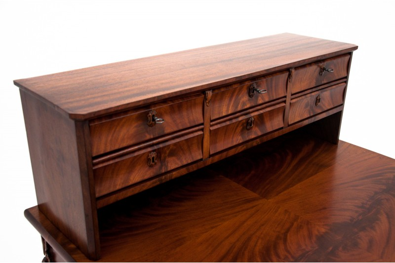 Mahoniowe biurko/sekretarzyk antyczny z około 1890 r