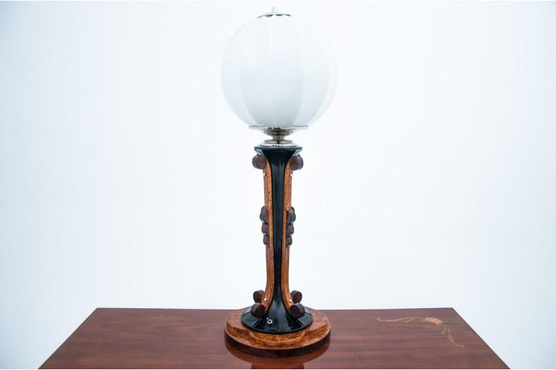 art deco lampa na komodę