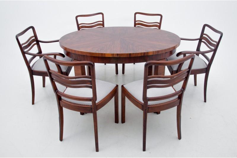 komplet stołowy Art Deco