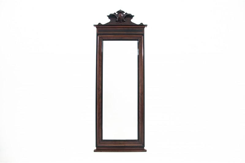 zabytkowe lustro w mahoniowej ramie